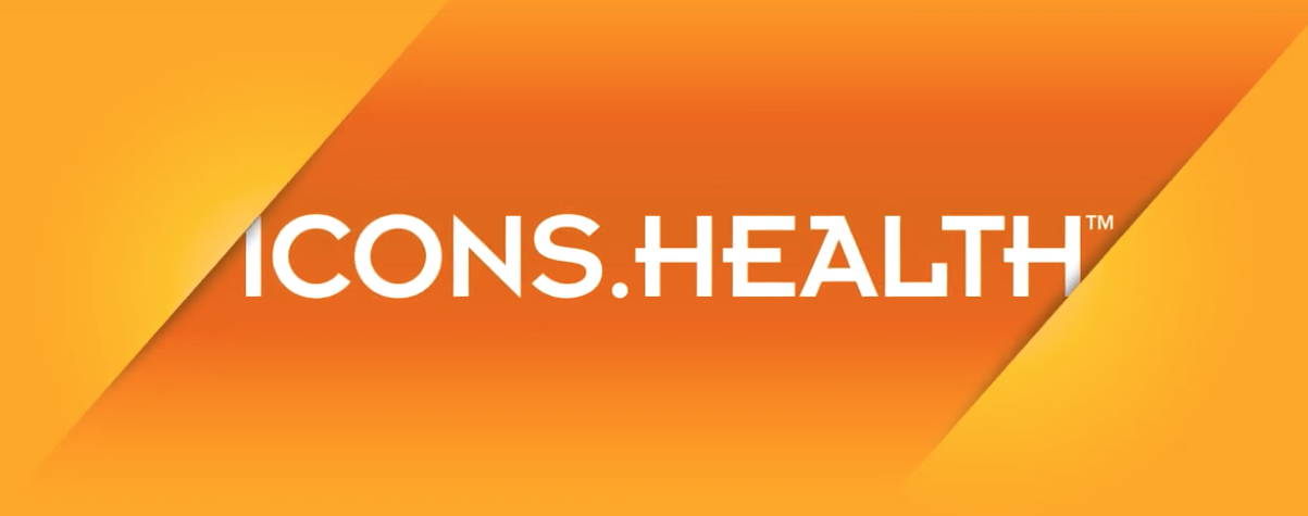 icons.health logo on screen