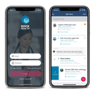 Dock Health mobile app