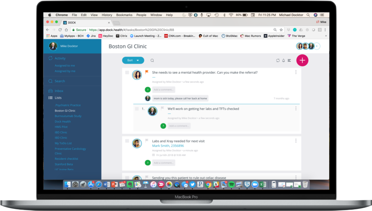 Dock Health: A hub for clinical task management and team