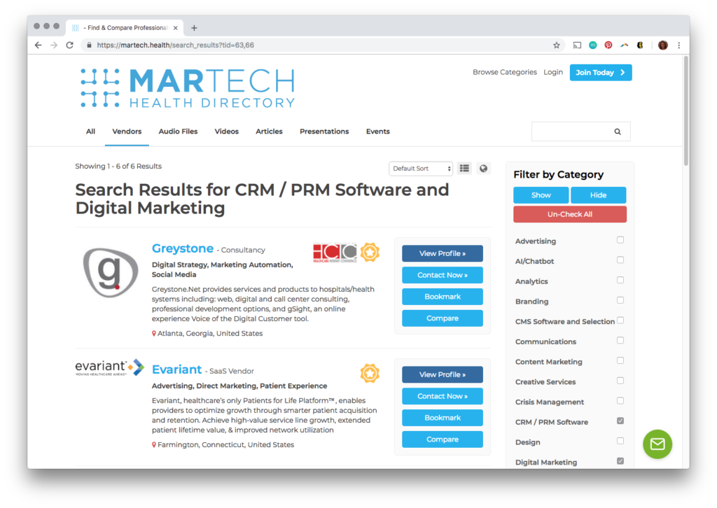 martech.health screenshot