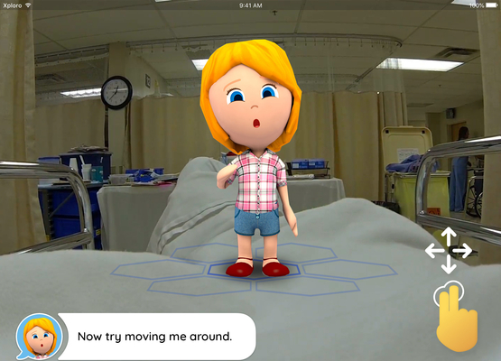 Pediatric cancer patents can customize their Xploro avatar to reflect their experience