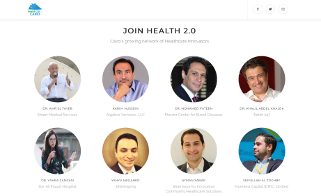 Health 2.0 Cairo website screenshot