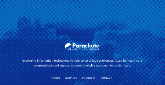Parachute website screenshot