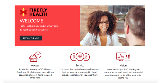 Firefly Health website screenshot