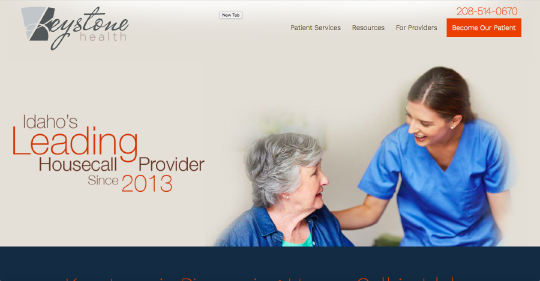Keystone Health website screenshot