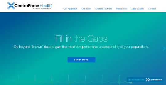 CentraForce Health website screenshot