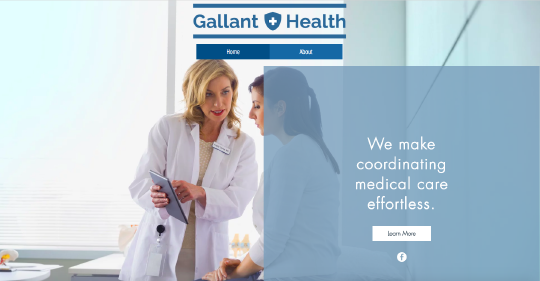 Gallant Health website screenshot