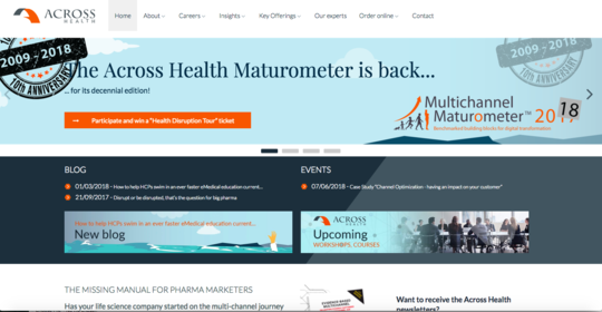 Across Health website screenshot