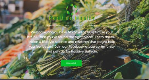 Positive.Health website screenshot