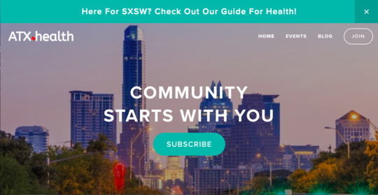 ATX health website screenshot