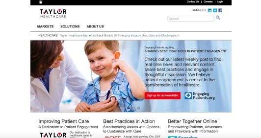 Taylor Healthcare website screenshot