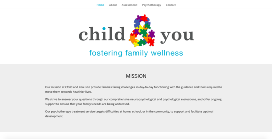 Child and You, LLC website screenshot