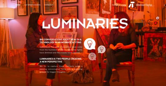 Luminaries.Health website screenshot