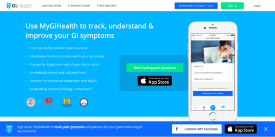MyGI.health website screenshot