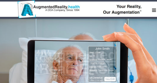 AugmentedReality.health website screenshot