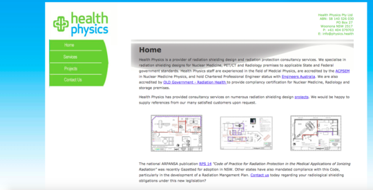 Health Physics website screenshot