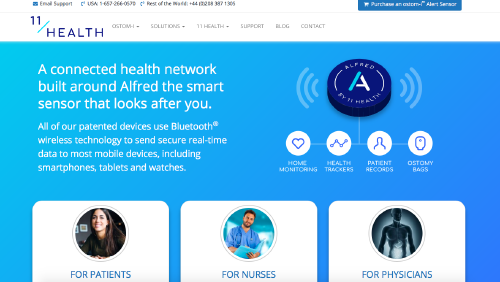 11 Health website screenshot