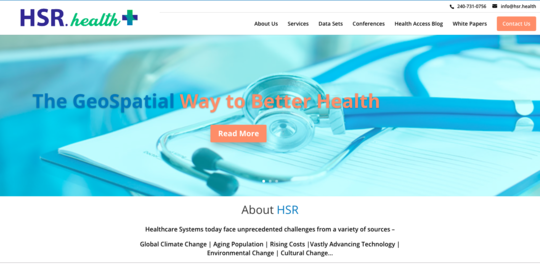 Health Solutions Research, Inc. website screenshot