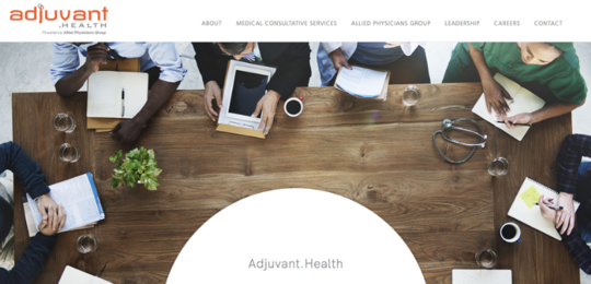 Adjuvant.Health website screenshot