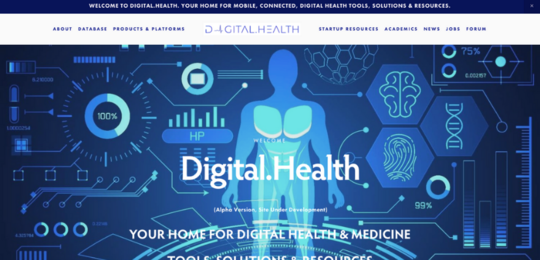 Digital.health website screenshot