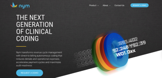 Nym website screenshot