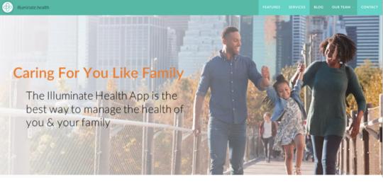 Illuminate Health website screenshot