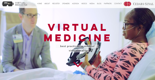 Virtual Medicine website screenshot