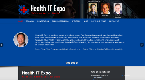 Health IT Expo website screenshot