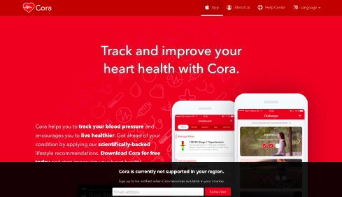 Cora Health website screenshot
