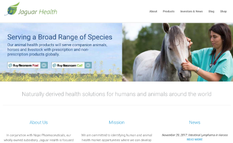 Jaguar Health website screenshot