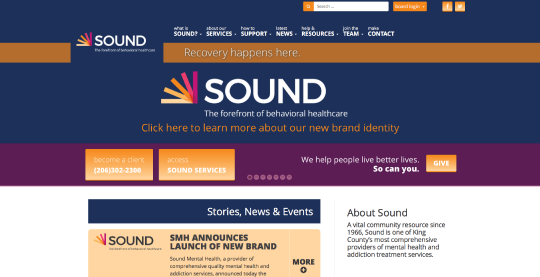Sound Health website screenshot