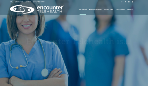 Encounter Telehealth website screenshot