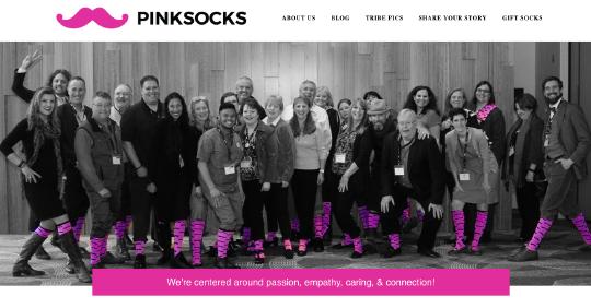 Pink Socks website screenshot