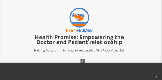 Health Promise website screenshot
