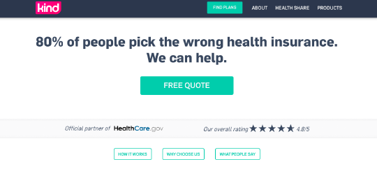 KindHealth website screenshot