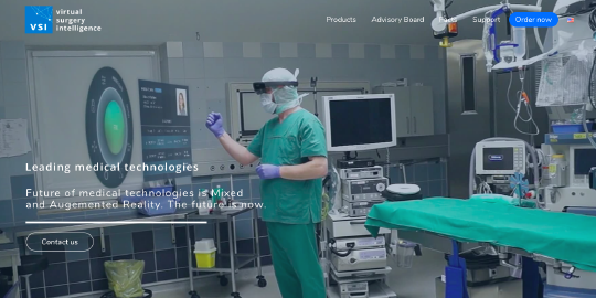 Virtual Surgery Intelligence website screenshot