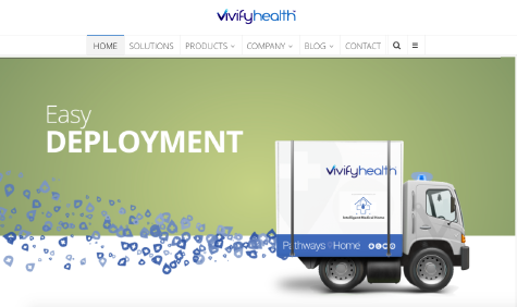 Vivify Health website screenshot