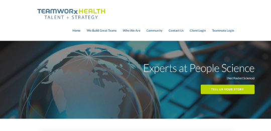 TeamWorx Health website screenshot