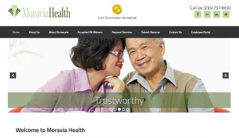 Moravia Health website screenshot