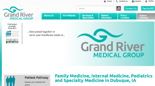 Grand River Medical Group website screenshot