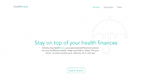 healthtrace website screenshot